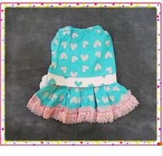 Affiliated Pastoral lace dress, dog dress-Petsoo.com