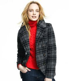 Wool Blanket Coat, Plaid