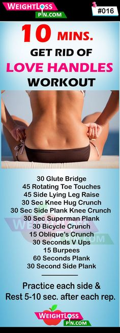 10-minute workout plan to get rid of love handles within 2 weeks. Slim waist exercise challenge for women. Best muffin top burning exercise for women. Easy workouts to get rid of side fat workout challenge. Flat belly workouts. Best exercise to reduce belly fat and side fat. weightlosspin.com...