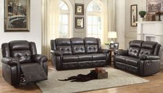 Palco Modern Faux Leather Reclining Living Room Set
