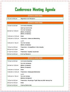 Conference Agenda Us Letter  Adobe Indesign Template And Adobe