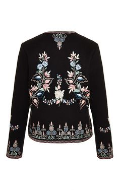 Sofia Jacket Coating All Over Embroidered Jacket by Vilshenko for Preorder on Moda Operandi