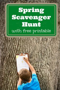 Free printable Spring scavenger hunt for kids!  Great idea for outdoor play & activities!