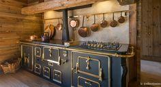 Cuisine chalet piano de cuisson style campagne rustique