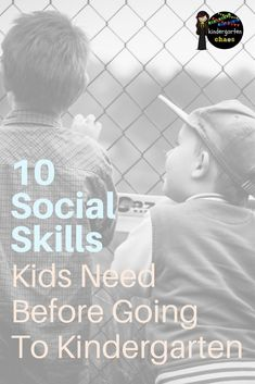 Social Skills are important. These are 10 Social Skills that kids need before starting Kindergarten. Advice from a real life Kindergarten teacher.