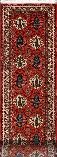 """Bakhtiari Persian Rug, Buy Handmade Bakhtiari Persian Rug 3' 1"""" x 18' 3"""", Authentic Persian Rug"""