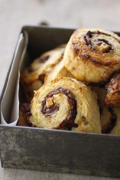 Nutella Pear Pinwheel Pastries