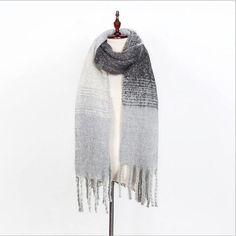 b3ba69ce4c High quality Women Winter Warm Scarfs Spell color Cashmere Scarves New  Designer Fashion Basic Shawls Women's Scarves
