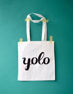 YOLO white grocery bag Drake the motto printed by invisiblecrown