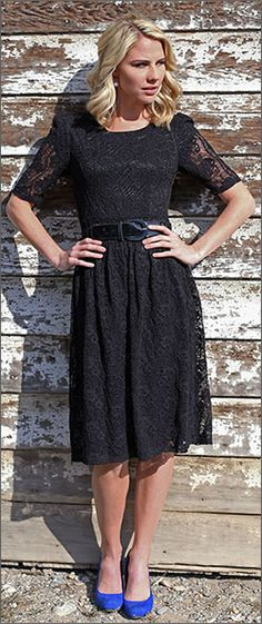 Abby Lace Dress BACK ORDER TILL 11/20/13 [MDF2503] - $69.99 : Mikarose Fashion, Reinventing Modest Fashion