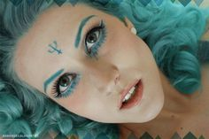 Sailor Neptun inspired make up by http://bambidoes.blogspot.de/2013/04/make-up-dreamz-sailor-neptun.html