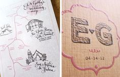 Another cute wedding map & couple logo