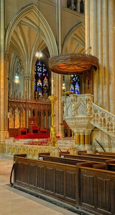 Pulpit At St. Patrick's Cathedral, New York City, New York by Dave Mills