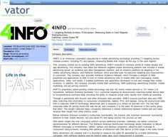 vator.tv http://www.4info.com profile.