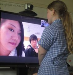 Anne Mirtschin @murcha First #skypeathon link w Mio H & class fr Shiga, Japan. Played mystery skype, then shared questions & culture