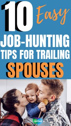 10 Easy Job-Hunting Tips for Trailing Spouses. For military spouses, being with someone who's always on the move can prove a challenge when it comes to job hunting. Because you want to work smarter, not harder. Here's how to do it. #CentSai #militaryspousecareer #careertips #militaryspouse Career Success, Career Opportunities, Career Change, Find A Babysitter, Resume Advice, Job Hunting Tips, Volunteer Services, Healthcare Administration, Easy Jobs