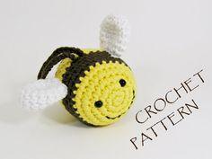 "Crochet Pattern Amigurumi Bee Soft Toy PDF by ByMarika on Etsy / 2.8"" long / CROCHET pattern to purchase"