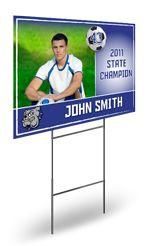 Player Championship Yard Sign - Soccer