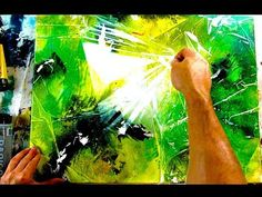 CRAZY ABSTRACT PAINTING EFFECTS USING PLASTIC AND WATER - YouTube