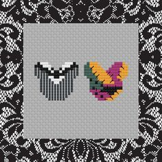 Disney Mouse Ears Jack and Sally Cross Stitch Pattern . Disney Cross Stitch Patterns, Cross Stitch Charts, Cross Stitch Designs, Perler Bead Templates, Perler Patterns, Minecraft Templates, Perler Bead Art, Perler Beads, Fuse Beads