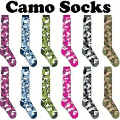 softball Socks by @Kerry Rizzo camo socks in 6 great colors to match any uniform.  free shipping on team orders