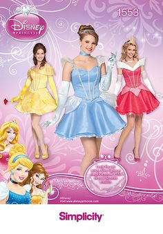 Simplicity 1553  Adult Disney Princess Costume by CheriesSewCrafty, $7.95 https://www.etsy.com/listing/183626442/simplicity-1553-misses-disney-cinderella?ref=shop_home_active_19