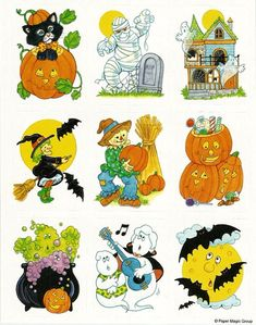 Early Eighties Halloween Halloween Stickers, Halloween Signs, Vintage Halloween, Fall Halloween, Halloween Crafts, Happy Halloween, Halloween Ideas, My Childhood Memories, Sweet Memories