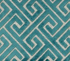 Hotel du Lac Upholstery Fabric, Sinfonia 3614 | Modelli Fabrics Teal Upholstery Fabric, Teal Fabric, Fabric Sofa, Bed Headboard Design, Headboards For Beds, Window Seat Cushions, Handmade Cushions, Curtains With Blinds, Soft Furnishings