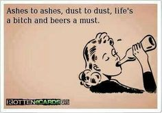 Ashes ... Beers a must