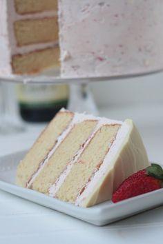 Strawberries and Champagne Cake from @Megan Ward Ward Ward Ward Ward {Country Cleaver}.