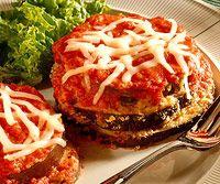 Eggplant Parmesan- Not fried!!