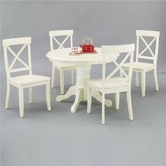 262.98  Home Styles 5177-30 Round Pedestal Dining Table, Antique White Finish by Home Styles, http://www.amazon.com/dp/B000EUK59M/ref=cm_sw_r_pi_dp_lysbsb0JQVHJW