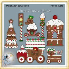 Christmas clipart holiday gingerbread cookies by magicmakerscraps