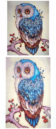 diamond painting kit sapphire owl