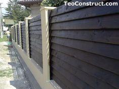 Garduri din lemn preturi Iasi 7 Front Fence, Front Yards, Design Case, Garage Doors, Outdoor Structures, Outdoor Decor, House, Romania, Home Decor