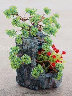Little garden by beads-poet.deviantart.com on @deviantART