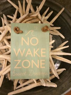 No Wake Zone Wooden Hanging Sign by SoHaLiving on Etsy