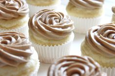 syrup on frosting Buttermilk Pancake Cupcakes with Maple Frosting www.createdby-diane.com