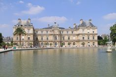 Paris, Luxembourg Garden, view of the Palace and the fountain pool Luxembourg Gardens, Tours, Garden Pool, Paris France, Palace, Travel Tips, Europe, Beautiful, Mansions