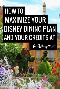 How to Maximize Disney Dining Plan Credits