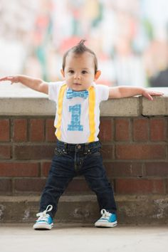 First Birthday Bodysuit Boys Outfit One Piece
