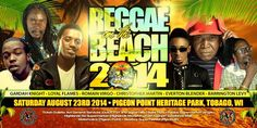 Who's ready for some Reggae on the Beach? Mark your calendars for Saturday, August 23rd 2014 at Pigeon Point, Tobago.   Featured Artists Include: Gardah Knight, Loyal Flames, Romain Virgo, Christopher Martin, Eventon Blender, and Barrington Levy!   #Tobago #Trinidad #TrinidadandTobago #TobagoBookings #Reggae #PigeonPoint #Music #CaribbeanMusic #Lime #Summer #BeachParty #Beach