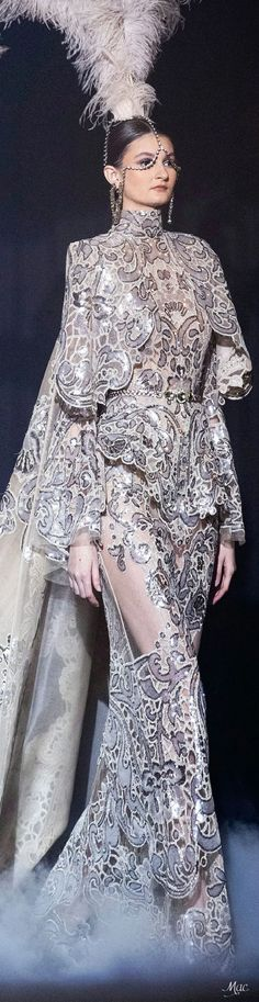 Spring 2021 Haute Couture Elie Saab Elie Saab Couture, Ellie Saab, Fashion Art, Fashion Design, Fashion Sketches, Formal Wear, Tutu, Beautiful Dresses, Designer Dresses