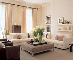 The Eight Most Common Living-Room Mistakes. Modern Living Room Interior Design Ideas - I have a ivory sectional Molly Edgley. Living Room Styles Visit the image link for more details. House Styles, Home And Living, Interior Design, House Interior, Home Living Room, Home, Interior Design Living Room, Living Decor, Family Room