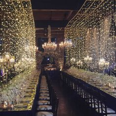 Another view of this string light installation! #ebweds @ellybevents @awbeach