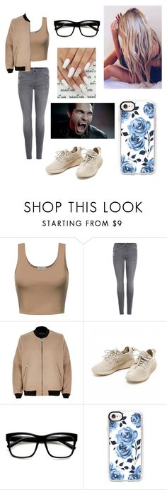 """""""Shift #1"""" by kendall-bostic ❤ liked on Polyvore featuring 7 For All Mankind, River Island and Casetify"""