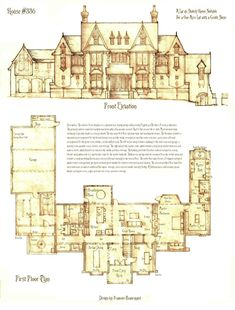 30 Haunted Mansion Floor Plans Haunted Mansion Floor Plans - Disneyland Haunted Mansion layout floor plan Floor plan Mansion Design for a Gothic Revival country house Victorian Home. The Plan, How To Plan, Building Plans, Building A House, Vintage House Plans, House Blueprints, Sims House, House Layouts, House Floor Plans