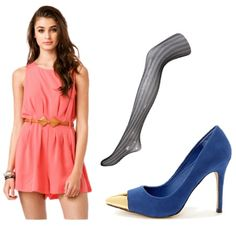 Dress like Megan and Liz Liz's style is girly and bold! Try a pretty pink dress with gold-toed blue pumps