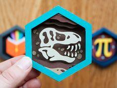 Paleontologist Paper Patch by Becky Margraf