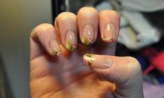 floral french tip